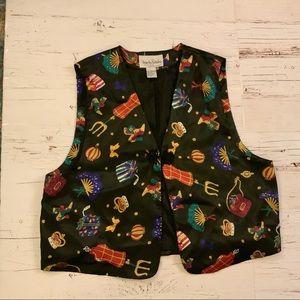 Diane von Furstenberg satin graphic  vest